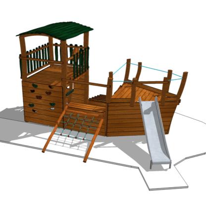Lekskepp med klätterlek-Woodwork AB