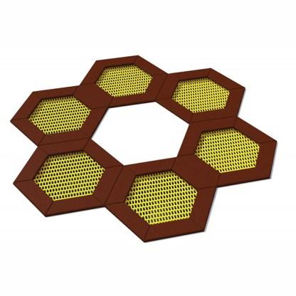 Woodwork AB-Trampolin/studsmatta hexagon