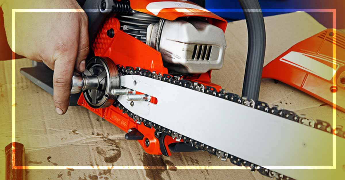 How to Put a Chain Back on an Electric Chainsaw
