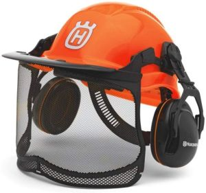 Husqvarna 577764601 Pro Forest Helmet System with Visor-Hearing Protection