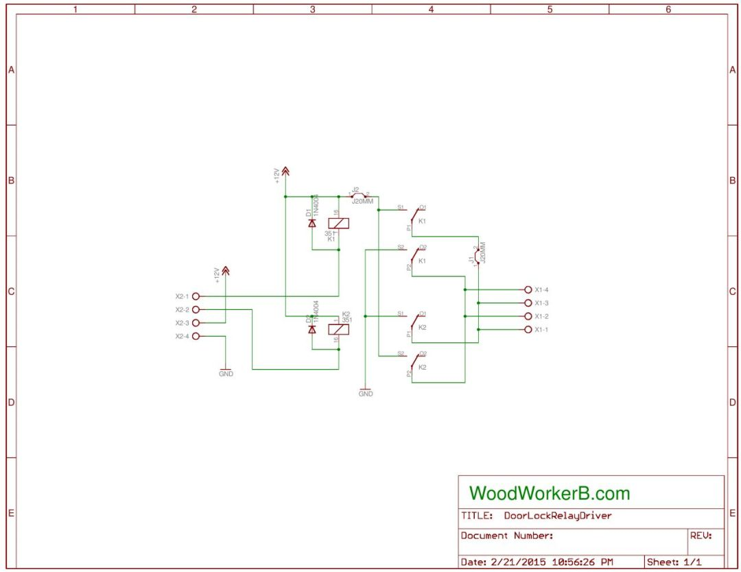 "Schematic, ""Polarity Reverser"" - WoodWorkerB"