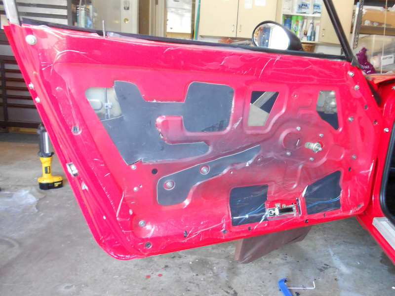 Datsun 240Z Drivers Door, open, no panel