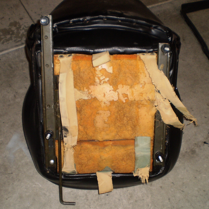 Original Seats, underside, Datsun 240Z seat refurbish, WoodWorkerB
