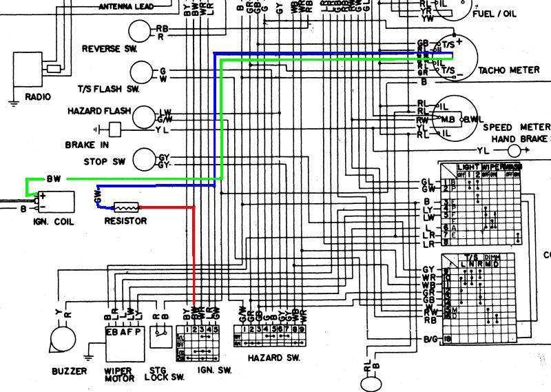 240z Wiring Diagram - Diagram Data Pre 3 prong turn signal flasher wiring Diagram Data Pre