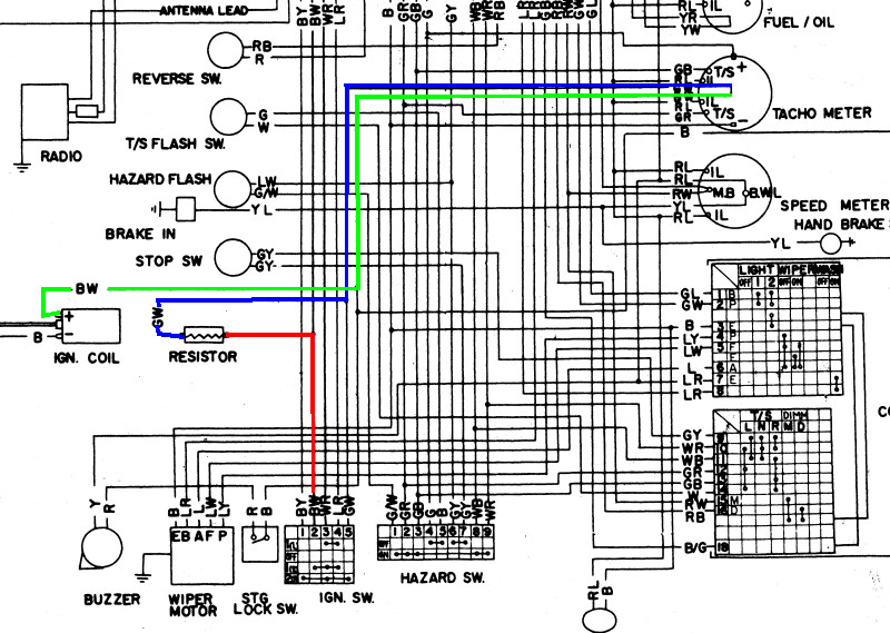 Superb 240Z Tach Wiring Diagram Basic Electronics Wiring Diagram Wiring Cloud Hisonuggs Outletorg
