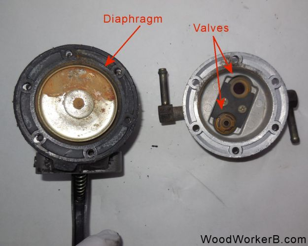 Datsun 240Z Mechanical Fuel Pump Rebuild - Fuel Pump Opened