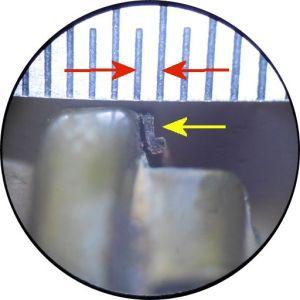 Fuel Pump Check Valve Gasket under microscope