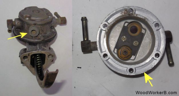 Datsun 240Z Mechanical Fuel Pump Rebuild - Orientation Port