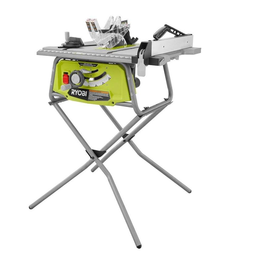 Ryobi Table Saw Review Ryobi 10 In Table Saw With Folding Stand RTS11
