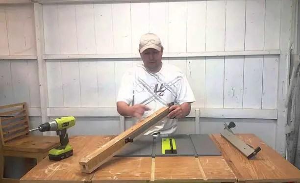 how to adjust Ryobi table saw fence
