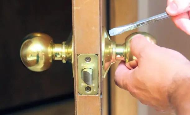 how to install a door knob with hidden screws