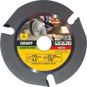 GRAFF Speedcutter 4-1-2-Inch TCT Circular Saw Blade Grinder Wood Carving Disc