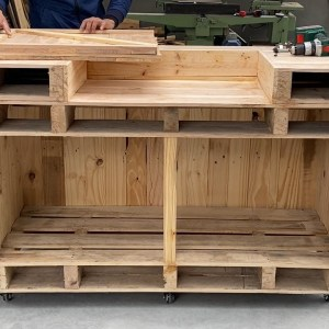 The Idea Of Making Smart Wood For Workshop From Used Pallet // DIY Drill Press Stand with Storage