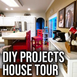 House Tour (DIY Home Projects Tour of a Woodworking Family)