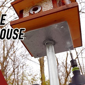 How to Make a Simple Birdhouse Post. Beginner Welding Project.