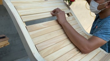 Great Woodworking Ideas // Build A New Style Rocking Chair - Soft Relaxing Chair
