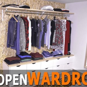 Cheap and easy-to-make Open Wardrobe