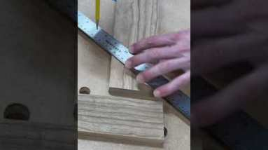 Perfectly Square and Mitered Corner || Woodworking  #shorts