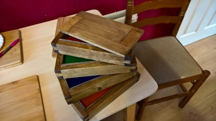 Dovetail stackable jewellery boxes II by Michael Thompson