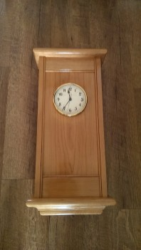 Wall Clock - Cherry. Similar to the pine clock built with a shellac finish. Thanks again Paul for the plan and joinery techniques!
