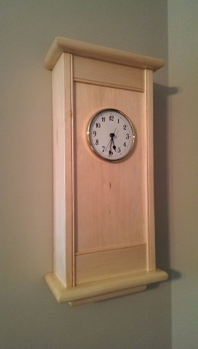 Wall Clock - Pine. Opted to keep the panel flat with a rear rabbet for mounting. Also made the bottom rail a touch wider. Overall, very pleased with the results! Thank you Paul for the plan and joinery techniques!