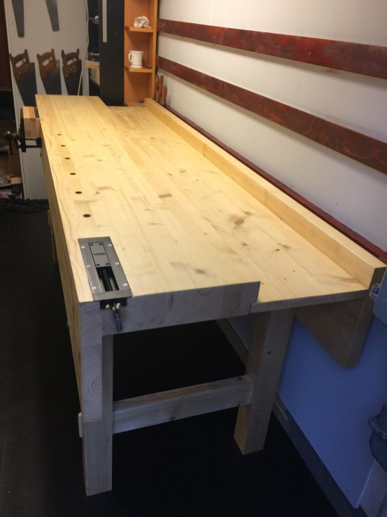 Workbench 230cm wide, 73cm deep, 99cm high