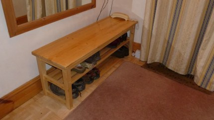 A hallway seat / shoe rack by Martin Smith