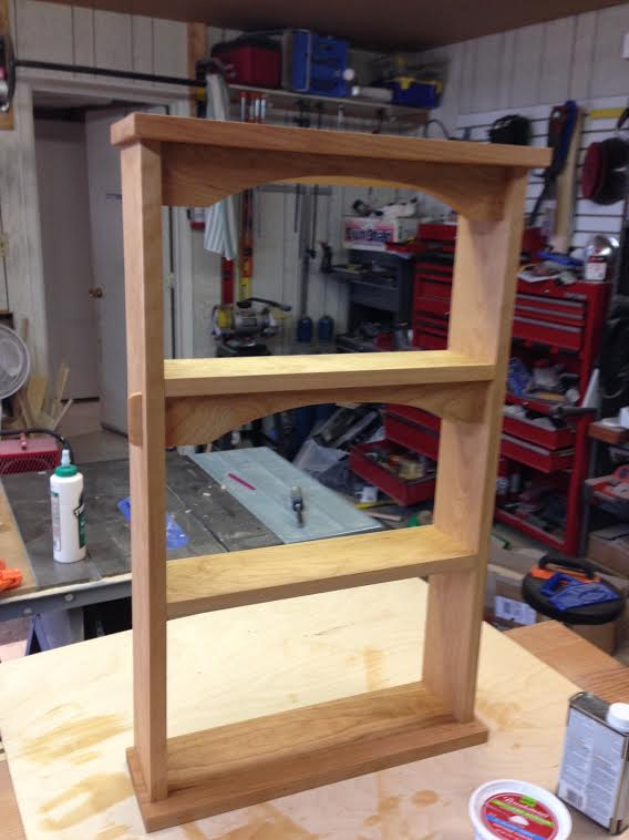 Wall Shelf of Cherry Wood by Greg Berlin