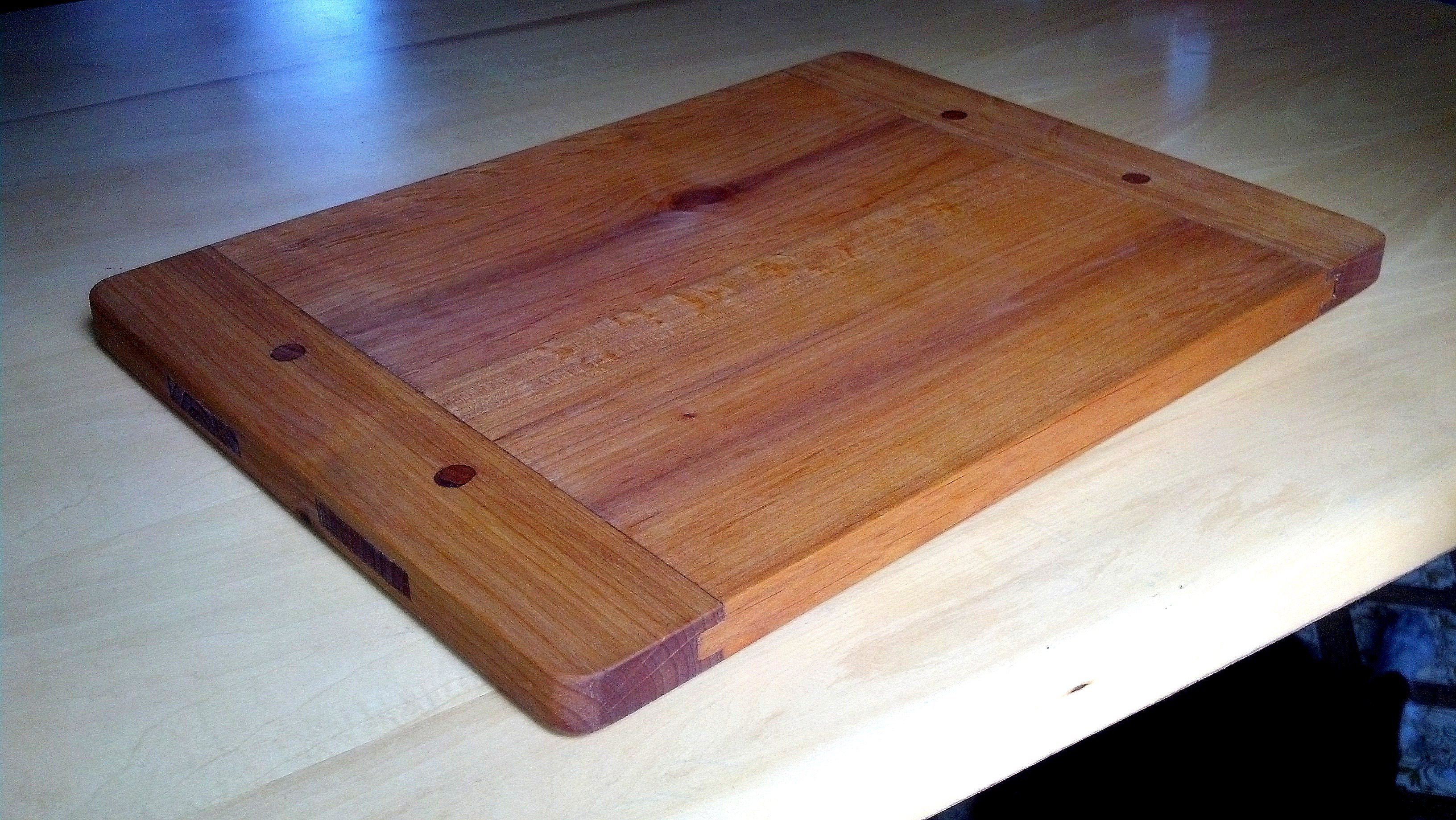 Breadboard End Cutting Board By Andy Cleland Woodworking