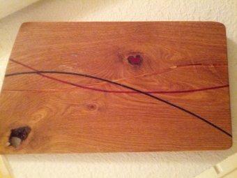 Breadboard (art) split inlays by Mike Prutz