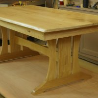 Our current project (Late April-June) is this Trestle Table.