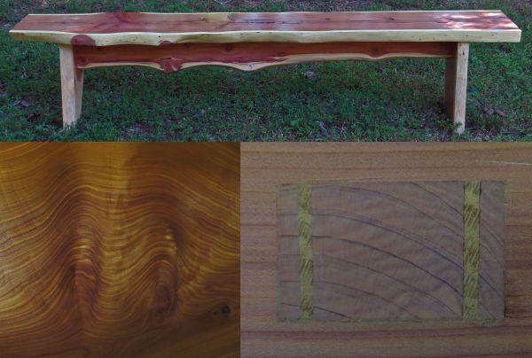 cedar bench by mercified