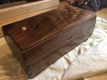 Keepsake Box. Walnut with French polish