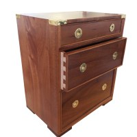 Small campaign style chest in sapele