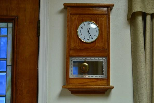 Clock number 10. Red oak