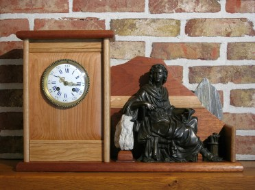 Conversion of a classic marble mantle clock to a wooden mantel clock. Different types of wood : Mahogany, Oak, Cherry