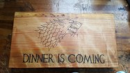 Last years christmas present for my sister, first proper go at pyrography, made from a small slab of golden cypress, and my sister was chuffed to bits.