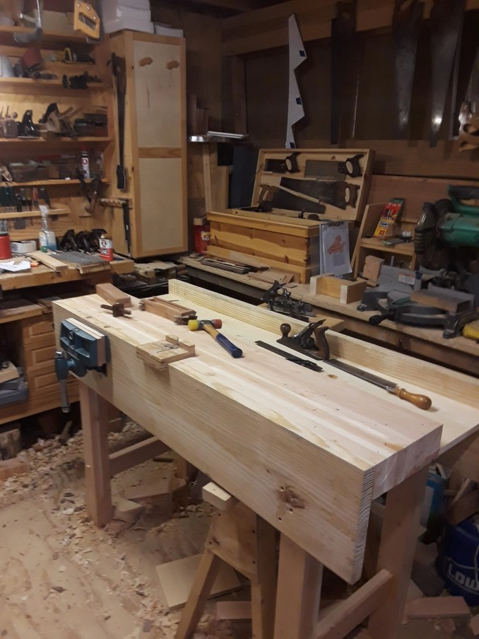 Basic Workbench of Pine and a Wilton Quick Release