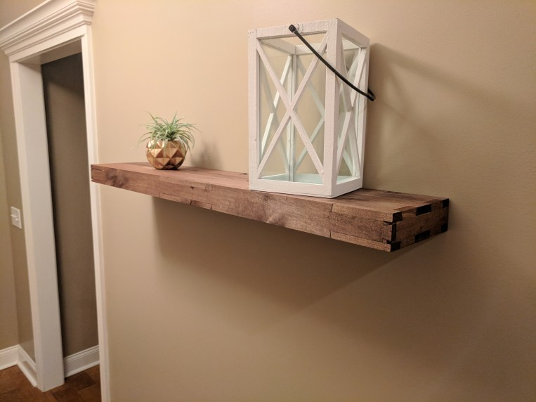 Reclaimed pallets don't always have to look cheap. Poplar with English Chestnut stain.