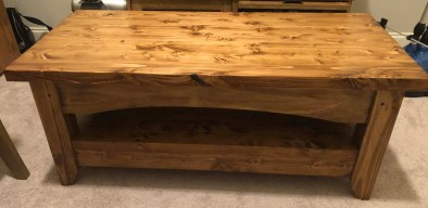 TV Stand using Paul's Coffee Table as inspiration - all pine