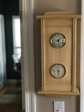 My 2nd wallclock. This one made for my mother for Mother's Day. Pine finished with shellac and waxed.