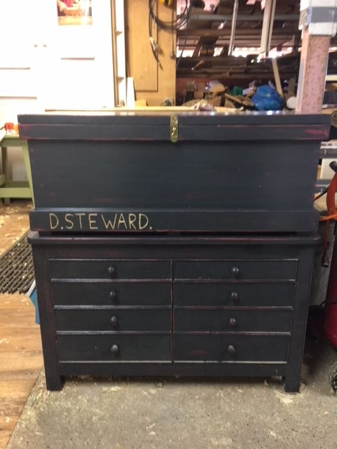 Pine, plywood and chalk paint