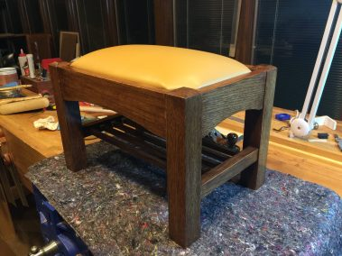 I made this foot stool from white oak, borrowing a lot of the same elements of the rocking chair project.