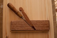 made from some scraps of meranti and oak, it will be very useful, finished with BLO.