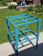 just a humble stand for laundry baskets, made from one 1x8 common pine board 6ft long