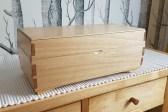 Keepsake Box made from birch with a shellac finish.