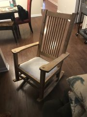 Rocker, made from some punky red oak and finished with walnut danish oil.