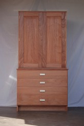 Numismatic coin cabinet. Used mahogany, maple, cocobolo drawer pulls and brass drawer pulls.