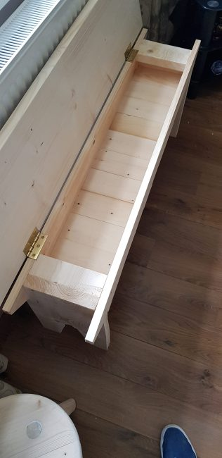 Bench with storage (2) by David Barker