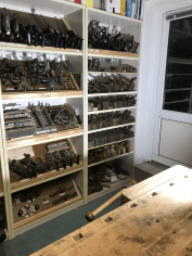 Tool storage for planes, files etc. made from scrab wood